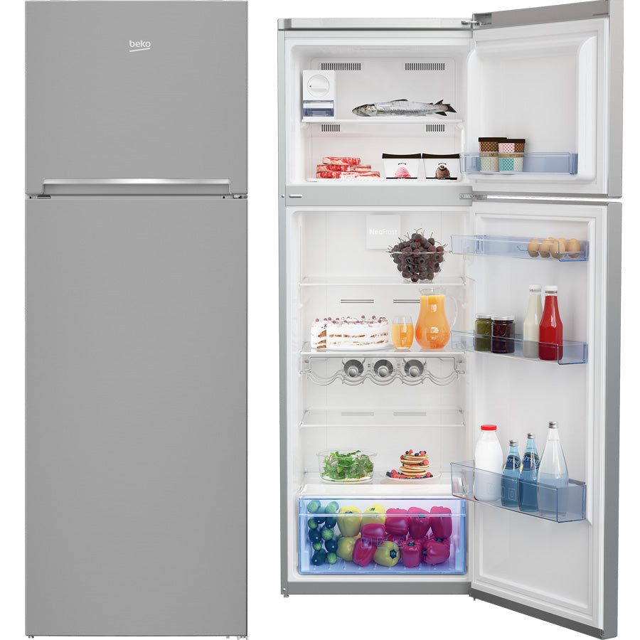 Beko RDNE350K30X 347L Stainless Steel Top Mount Fridge