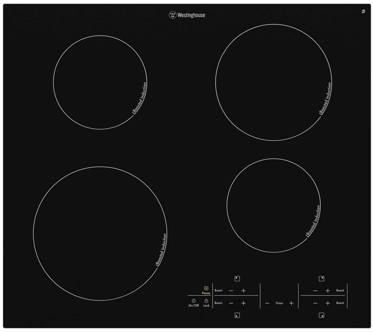 Westinghouse WHI644BA 60cm 4 zone Induction Cooktop - Bargain Home Appliances