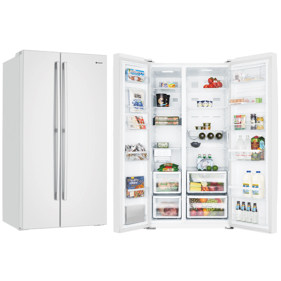Westinghouse WSE6200WA 620L Side by Side White Fridge