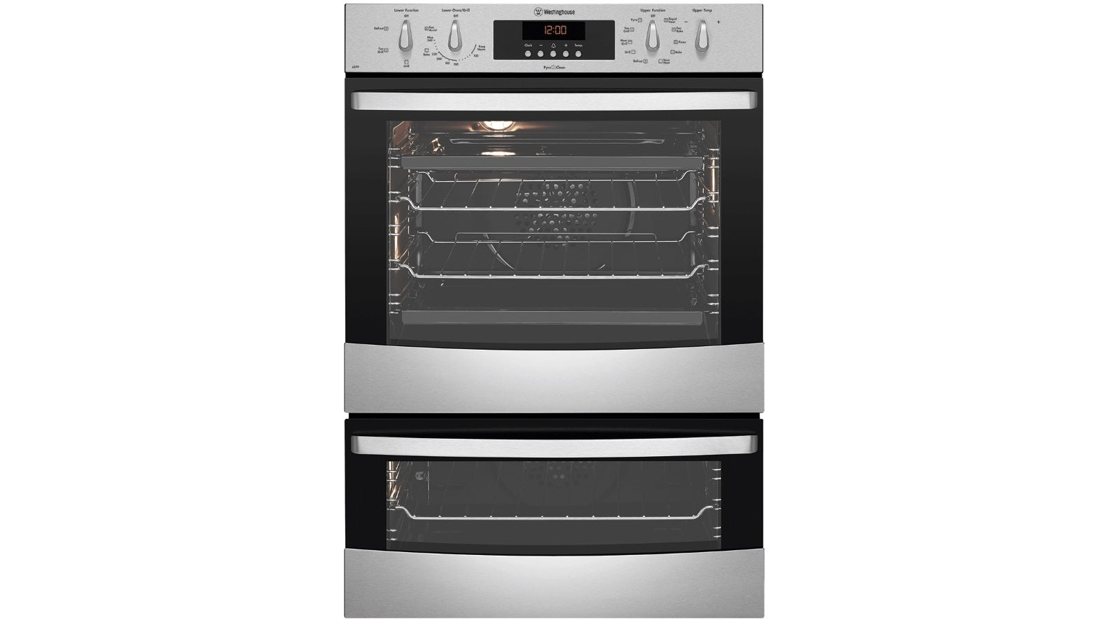 Westinghouse WVEP627S 60cm Double Pyrolytic Oven