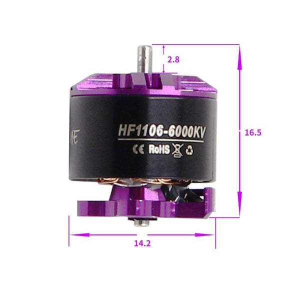 HGLRC FLAME 1106 6000KV 2-3S Brushless Motor for RC Drone FPV