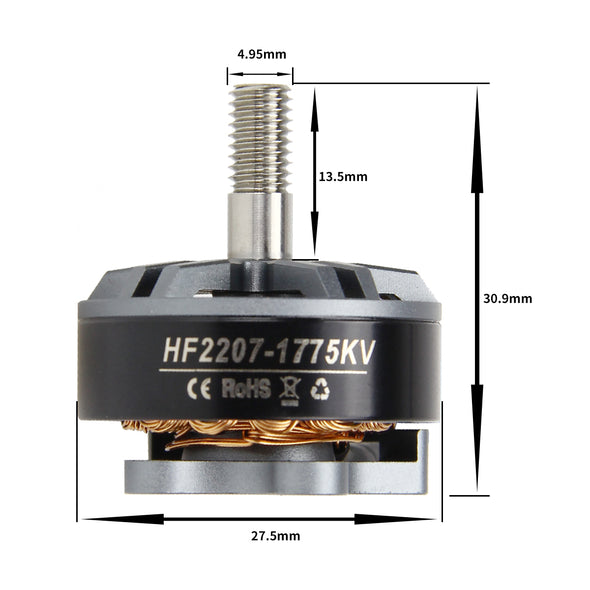 HGLRC Flame 2207 1775KV 5-6S Brushless Motors