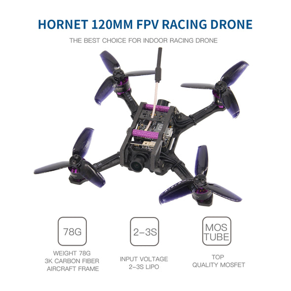 HGLRC HORNET 120 120mm FPV Racing Drone PNP (black props)