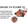 HGLRC F4 FLAME V2 Flight Controller+ 4 PCS T-Rex 35A 3-6S ESC Set