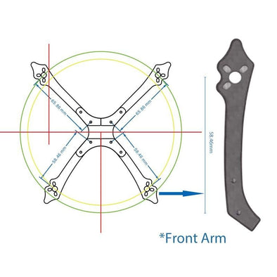 Frame Parts Arms Plate Standoffs for Arrow3 Drone - HGLRC Company