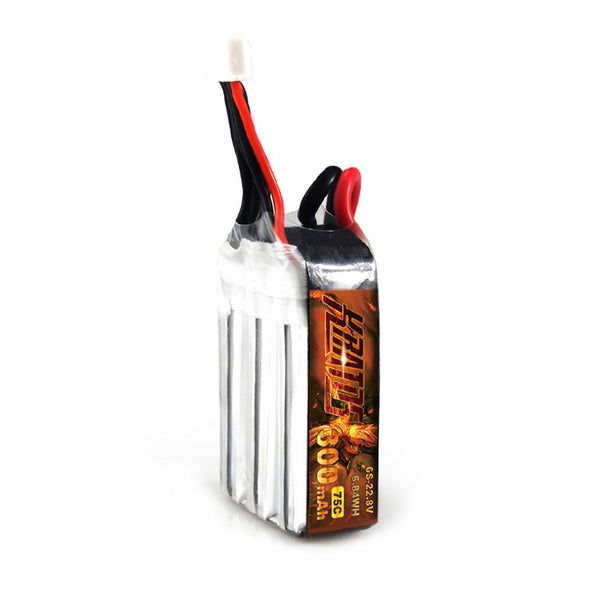 HGLRC KRATOS 6S1P 22.8V 300mAh 75C Lipo Battery with XT30 Plug - HGLRC Company