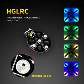 HGLRC Motor LED (1pc) programmable thru CF/BF - HGLRC Company