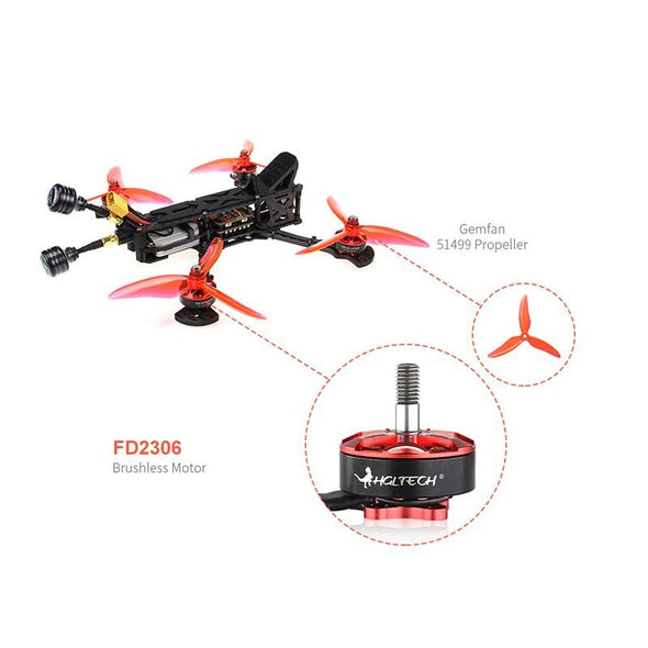HGLRC Sector V2 HD 5 inch FPV Freestyle Racing Drone 4S/6S with DJI AIR UNIT-PNP - HGLRC Company