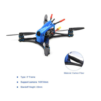 HGLRC Toothpick 3'' Petrel132 micro 4S FPV Racing Drone BNF/ PNP- Blue - HGLRC Company