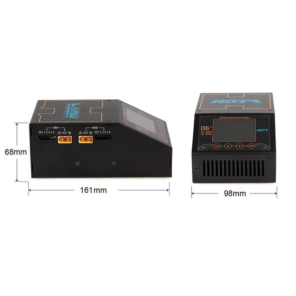 HOTA D6+ AC 300W DC 2X325W 2X15A Dual Channel Smart Battery Charger Discharger - HGLRC Company