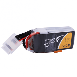 Tattu 650mAh 4S1P 75C 14.8V Lipo Battery with XT30 Plug - HGLRC Company