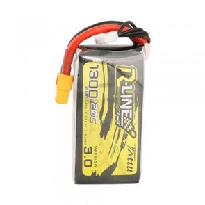 Tattu R-Line Version 3.0 1300mAh 14.8V 120C 4S1P Lipo Battery Pack with XT60 Plug - HGLRC Company