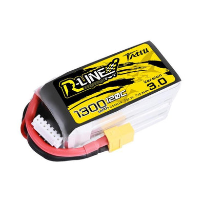 Tattu R-Line Version 3.0 1300mAh 22.2V 120C 6S1P Lipo Battery Pack with XT60 Plug - HGLRC Company