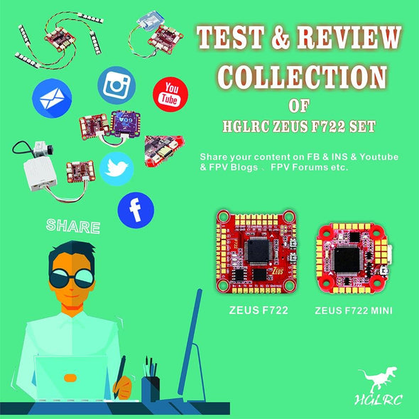 Test & Review Collection of HGLRC DJI Zeus F722 - HGLRC Company