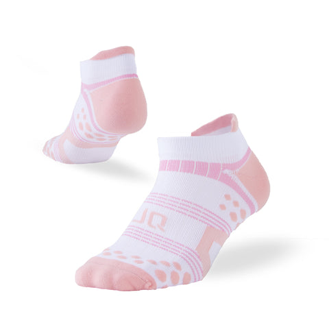 women ankle socks pink white
