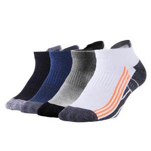 4 Pack Antibacterial Anti-odor Athletic Ankle Socks - Multicolor