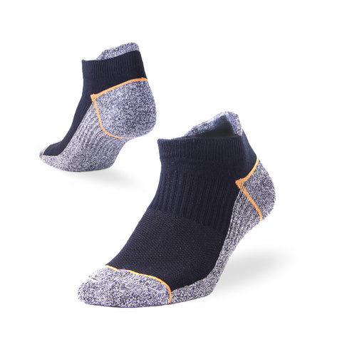 black ankle socks tab