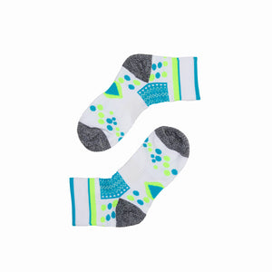 Antibacterial Anti-odor Athletic Quarter Socks - Multicolor
