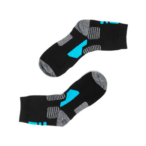 sports quarter socks black