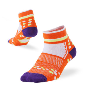 women ankle socks orange