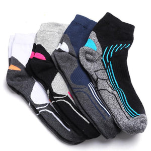4 Pack Antibacterial Anti-odor Athletic Quarter Socks - Multicolor