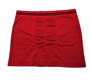 4 Pack Copper Antibacterial Seamless Mesh Design Boxers Red 4 Pack - Mens