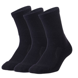3 Pack Copper Antibacterial Diabetic Socks (Black/White/Gray)