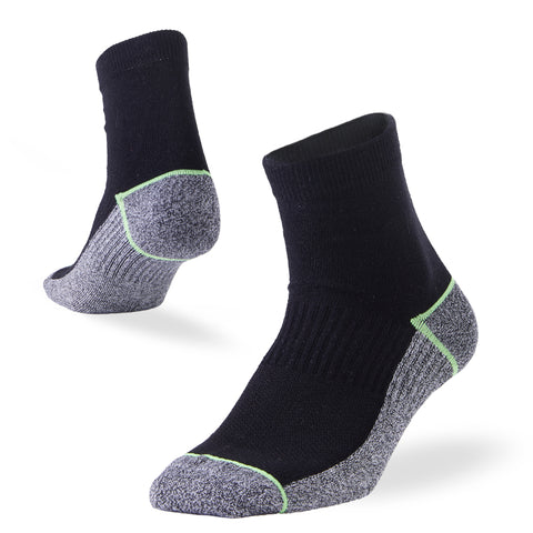 running quarter socks black