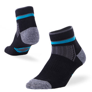 fitness ankle socks black