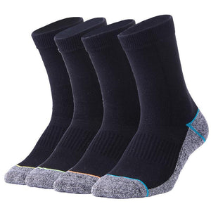 4 Pack Antibacterial Anti-odor Athletic Crew socks - Multicolor