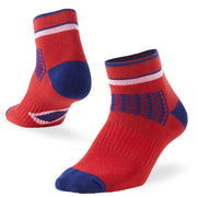 workout ankle socks red