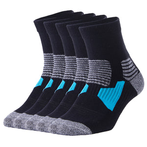 Buy 1 Get 4 for Free | 5 Pack Antibacterial Anti-odor Athletic Quarter Socks - Unisex