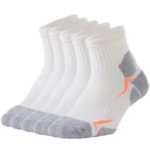 Buy 1 Get 4 for Free | 5 Pack Athletic Compression Quarter Socks 15-20mmHg