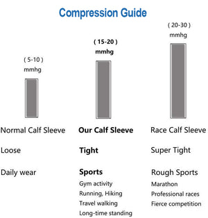 Copper Antibacterial Calf Compression Sleeve 15-20mmhg (Pair)