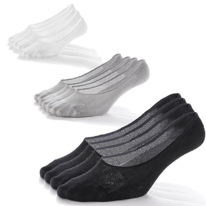 6 Pack Unisex Mesh No Show Socks (Black/White/Gray)