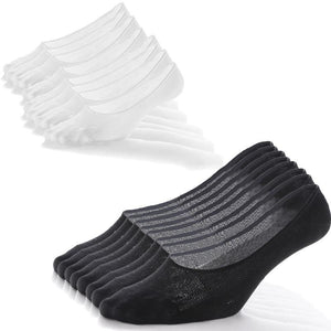 9 Pack Unisex Mesh No Show Socks (Black/White/Gray)