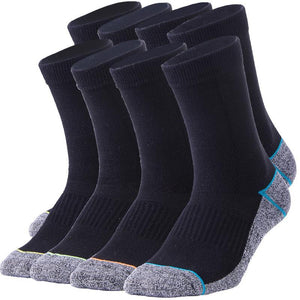 8 Pack Antibacterial Anti-odor Athletic Crew socks - Multicolor