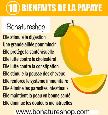 Papaye bienfaits Bonatureshop