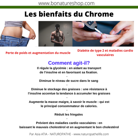 CHROME BIENFAITS BONATURESHOP ASIA ATIA NATUROPATHE