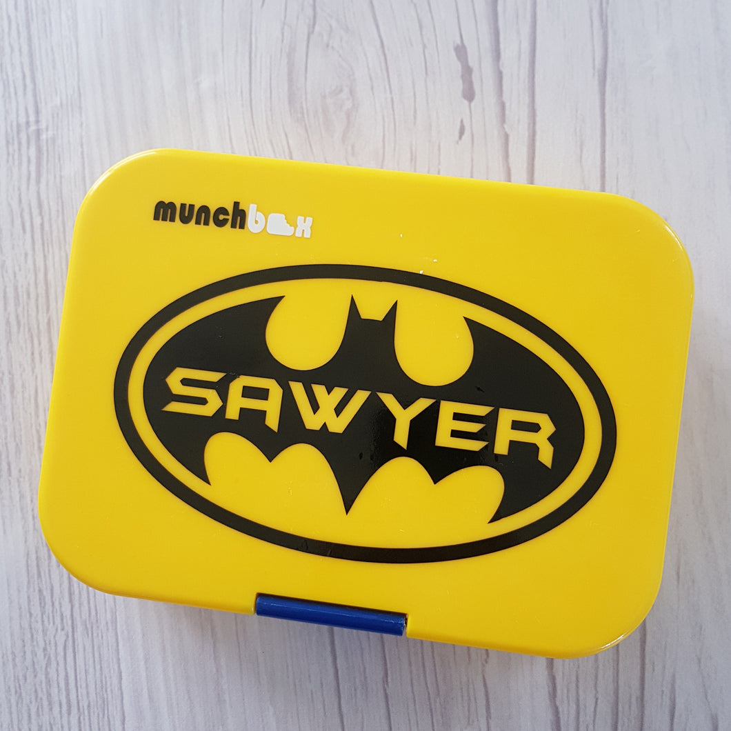 Batman Forever Logo & Name Cutout Lunchbox Decal Sticker