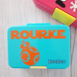 Small Name + Icon Designer - Fits Munchi & Yumbox Mini Snack- Personalised Label