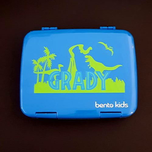 Jurassic Park World Dinosaur Scene Personalised Name Label - Large Lunchbox Decal Sticker