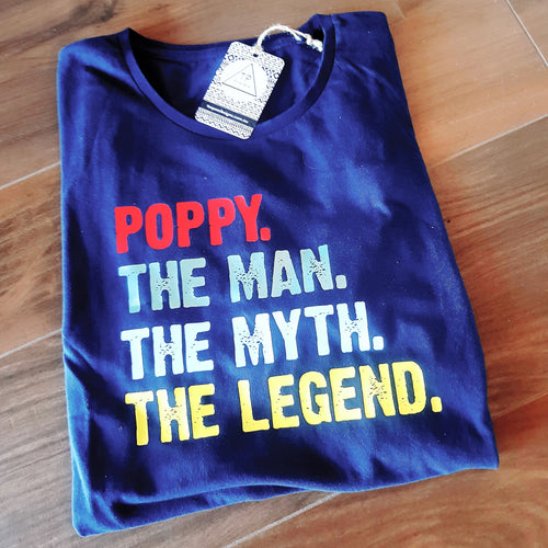 The Man The Myth The Legend Poppy / Grandad / Dad Shirt Design - DIY Iron-On Decal - Heat Transfer Vinyl (HTV)