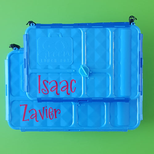 Go Green Small Snack Box - Name Only - Personalised Label Sticker