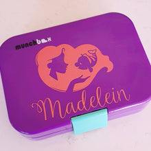 Little Ariel Mermaid Silhouette Personalised Name Label - Custom Lunchbox Sticker Decal {Princess Font}