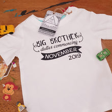 Big Brother Announcement - Personalised DIY Iron On - Heat Transfer Vinyl