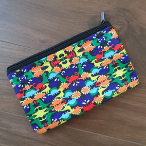 Personalised Neoprene Pencil / Makeup Case - Dinosaurs - Back to School