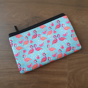 Personalised Neoprene Pencil / Makeup Case - Flamingo - Back to School
