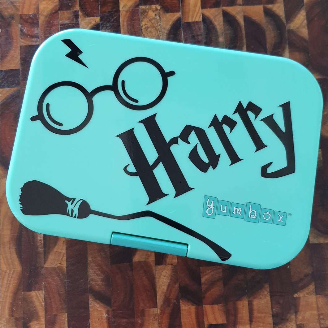 Harry Potter Personalised Wizard Lunchbox Sticker / Laptop Label