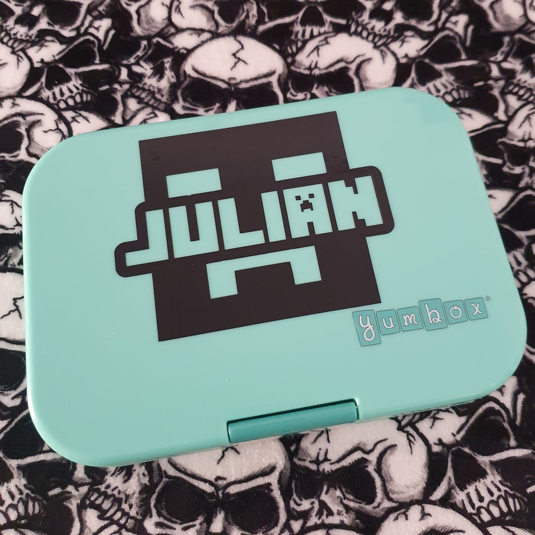 Minecraft Creeper & Shadow Knockout Name Lunchbox Decal Sticker